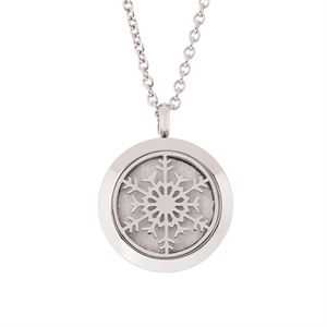 Snowflake Essential Oil Locket