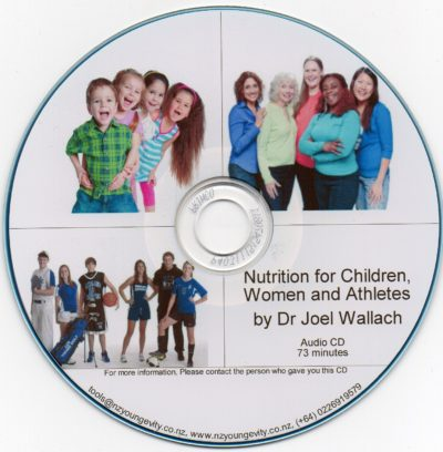 CD - Nutrition for Woman, Children and Athletes - by Dr Joel Wallach