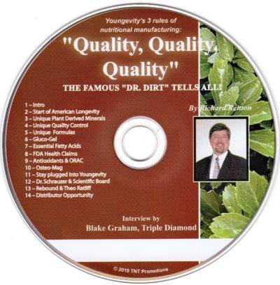 CD - Quality, Quality, Quality - by Richard Renton