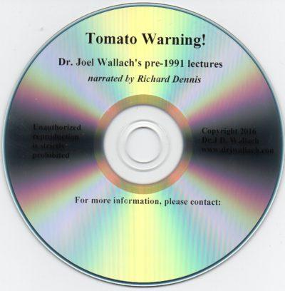CD - Tomato Warning Narration - By Richard Dennis